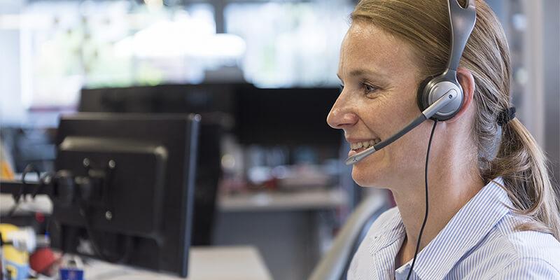Developer talking with customer