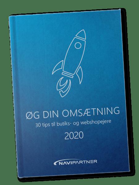 Blå bog med et raket-ikon