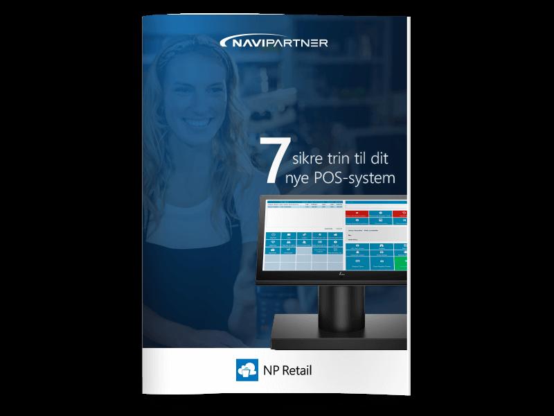 """Forside af """"7 sikre trin til dit nye billetsystem"""" med blåt syvtal"""