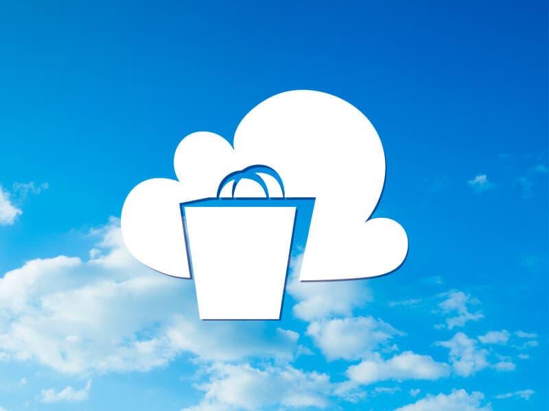NaviPartners Cloud-logo med en blå himmel i baggrunden cloud-baseret POS-system