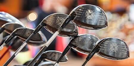 Sorte golfkøller fra Reference Golf Experten