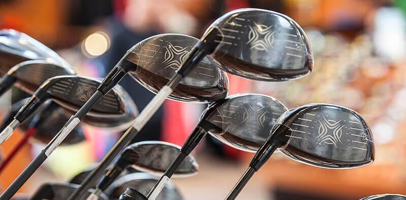 Sorte golfkøller