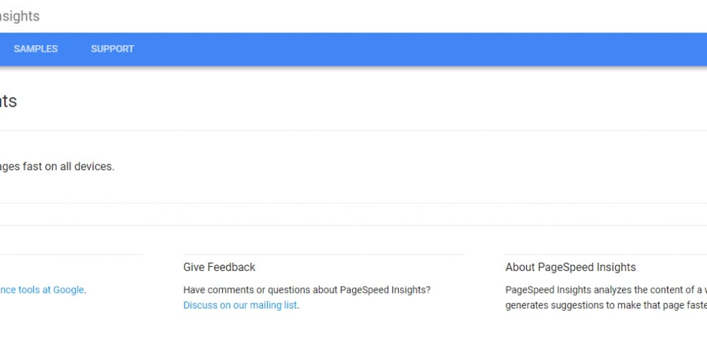 Screenshot af Google Pagespeed Insights