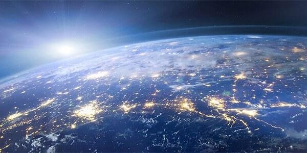 Billede af Jorden set oppefra