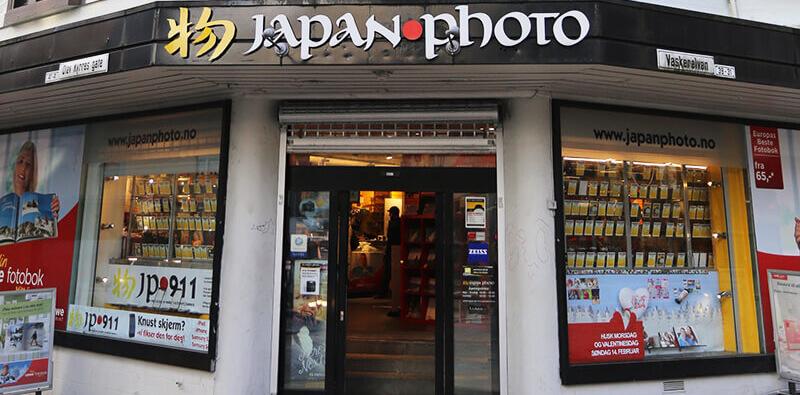 Japan Photo Norge butik indgang