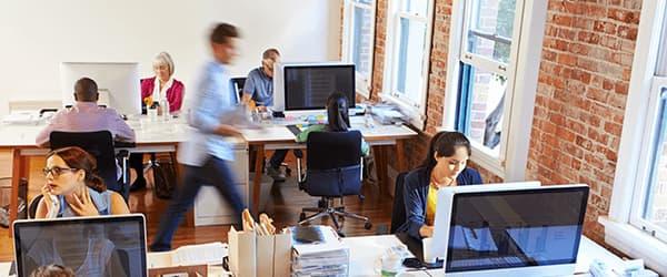 Kontor med ansatte