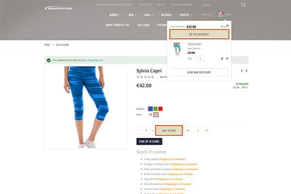 Udfør et salg i webshoppen