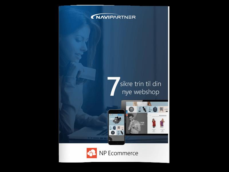 """Forside af """"7 sikre trin til din nye webshop"""""""