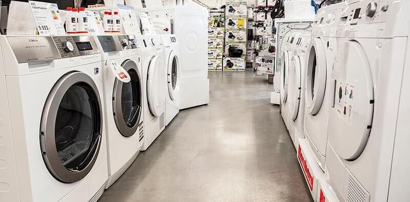 Vaskemaskiner hos WhiteAway & Skousen, reference