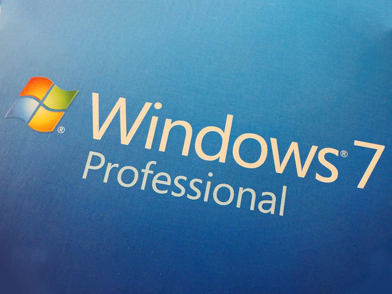 Windows 7 logo med blå baggrund