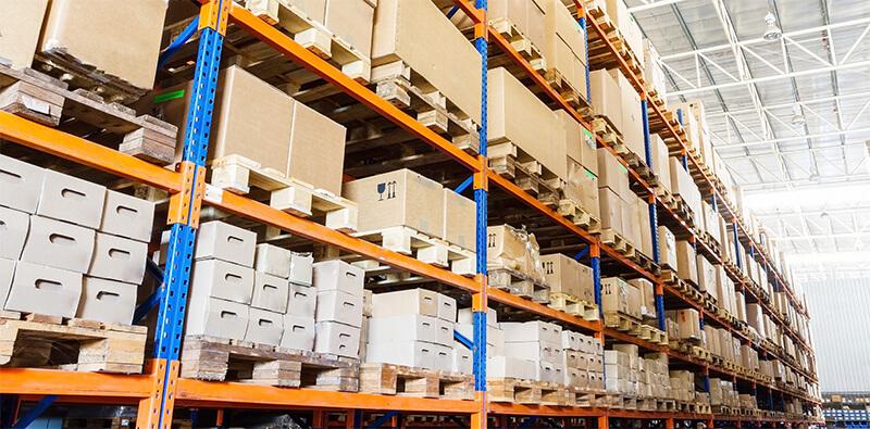 Lagerrum i en lagerbygning
