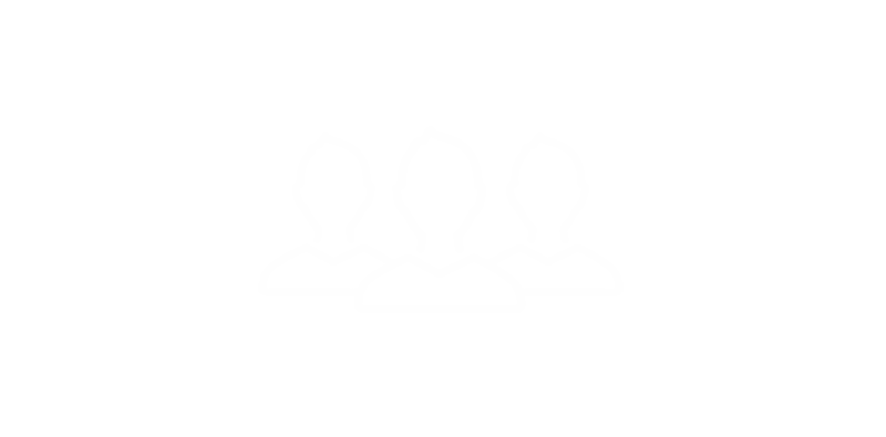Hvidt ikon for sociale arrangementer som du tilbydes som kollega i NaviPartner