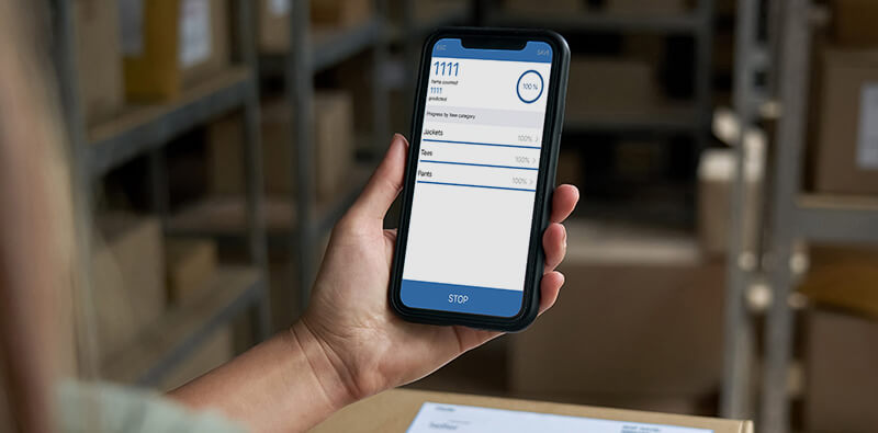 RFID counter on smartphone